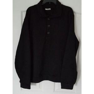 Men's H2H Casual Slim Fit Pullover 2XL Black